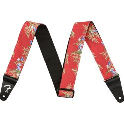 FENDER 2 HAWAIAN STRAP RED FLORAL