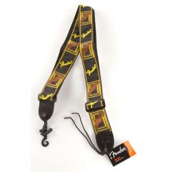 "FENDER 2"" Strap, Black, Yellow & Brown"