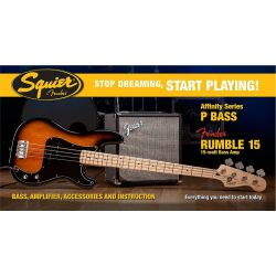 SQUIER PACK P BASS R15V3 BSB